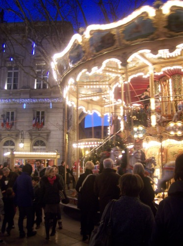 Christmas lights in Avignon.