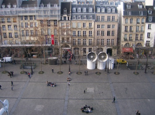 View of Paris from the Pompidou Museum.