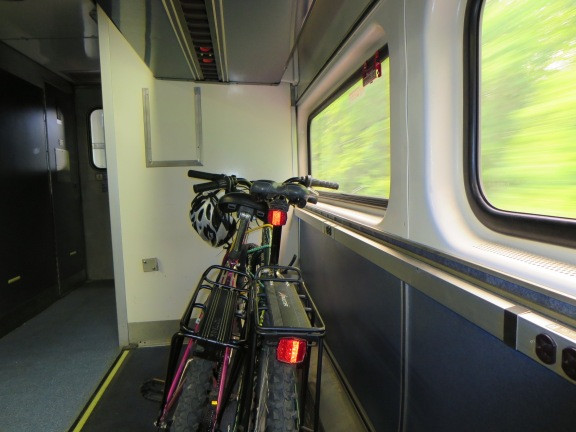 We took our bikes on the Amtrak to get to Hermann.