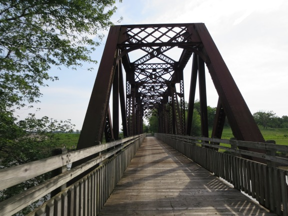 And rode over old pretty bridges.