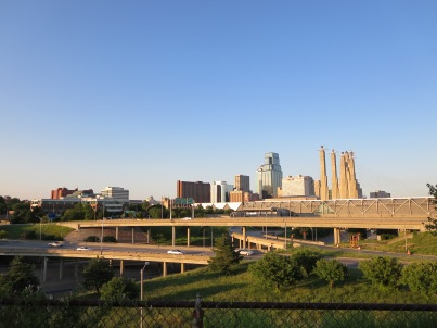 The view of downtown from Westside.