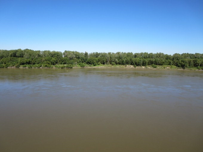 The Missouri River, from River Front Park, Kansas City Mo.