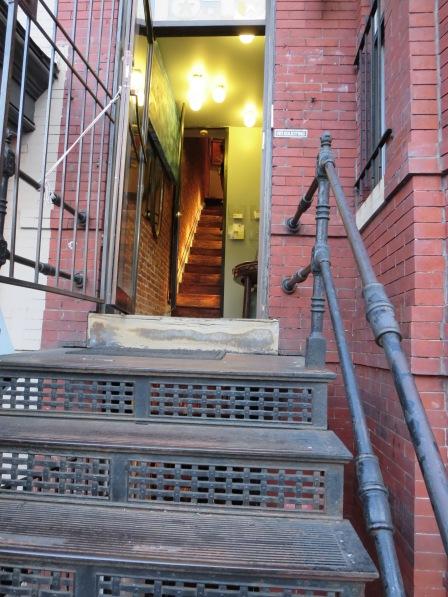 Peak in the doors on U Street.
