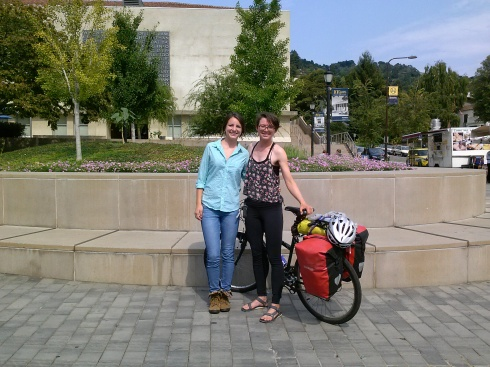 Mercedes and me on the UC Berkeley campus.