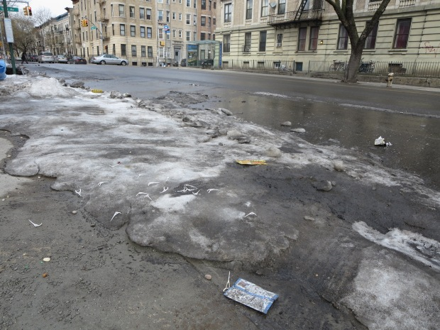 melting snow NYC